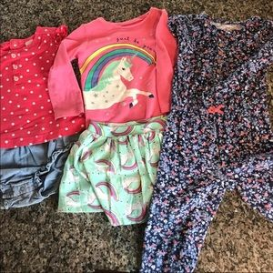 Girls carters 24 months clothes lot